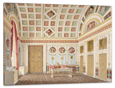The Munich Dressing Room of King Ludwig I, c.1836, Color Pen's and Watercolor on Parchment