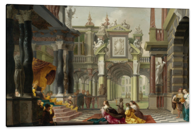 Solomon Receiving the Queen of Sheba, c.1642, Oil on Canvas