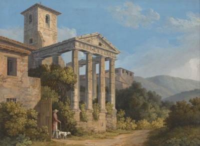The Temple of Hercules in Cori near Velletri, c.1783, Oil on Canvas