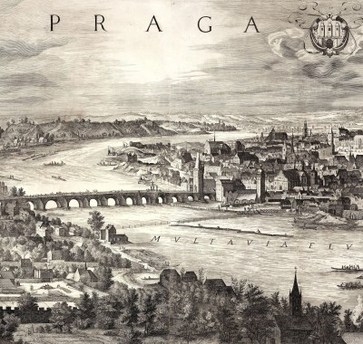 Prague, View of The Charles Bridge, c.1740, Engraving