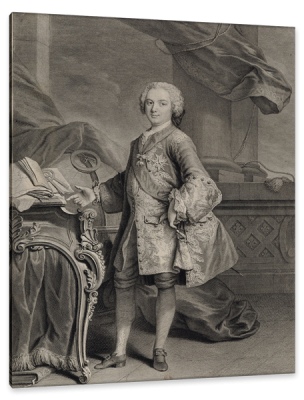 Portrait of Louis, Dauphin of France, c.1750, Engraving