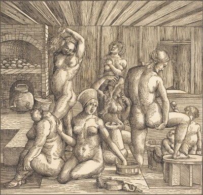 Women's Bath, c.1510, Woodcut