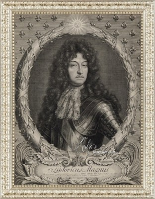 Portrait of Louis XIV of France, after Peter Vandrebanc