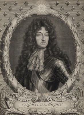 Portrait of Louis XIV of France, c.1685, Engraving