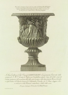 A Marble Vase Sculpted with Bacchic Revels, c.1770, Engraving