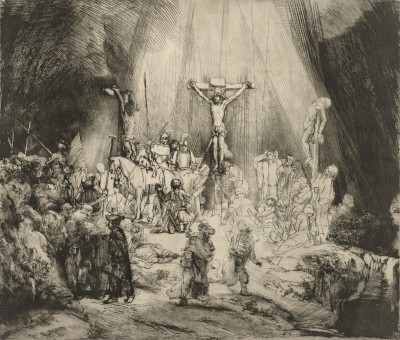 Christ Crucified Between the Thieves, c.1653, Engraving