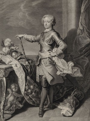 Portrait of a young Louis XV of France, c.1724, Engraving