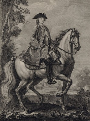 Equestrian Portrait of Louis, Dauphin of France, c.1765, Engraving