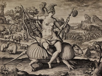 America, The Fruits of the New World, c.1605, Engraving