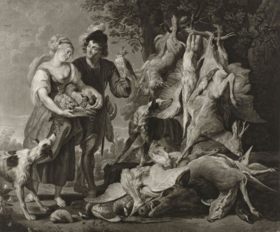 The Fig, Featuring Rubens and his Wife, c.1800, Engraving