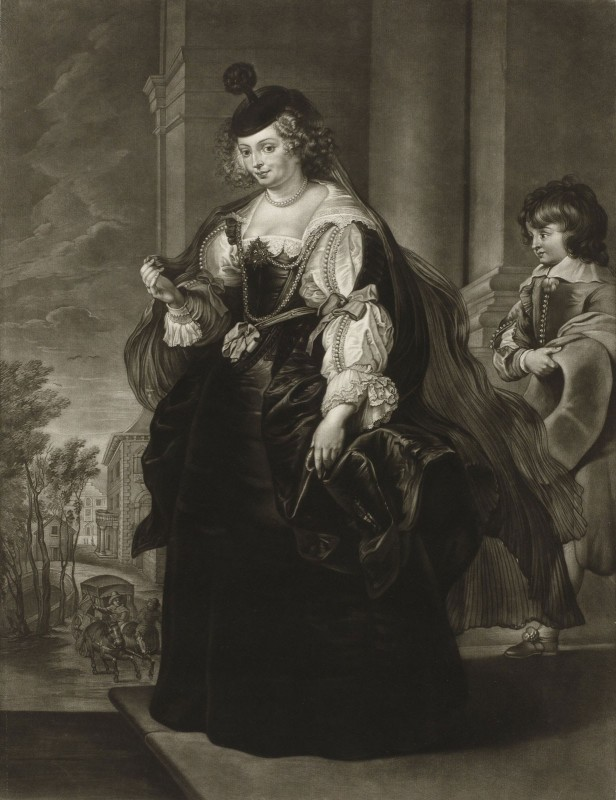 The Wife of Peter Paul Rubens, Helena Fourment, c.1776, Engraving