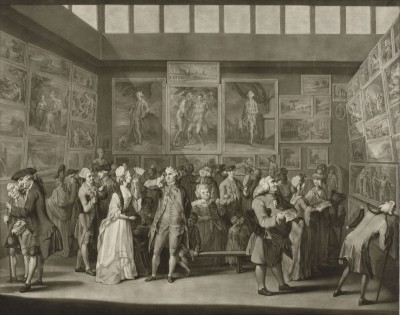 Paintings Exhibition at the Royal Academy, c.1776, Engraving