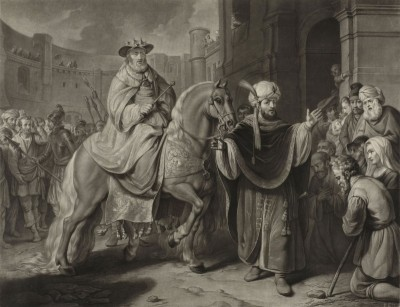 The Triumph of Mordicai, c.1775, Engraving