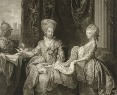 Charlotte, Queen of Great Britain and the Princess Royal, c.1778, Engraving