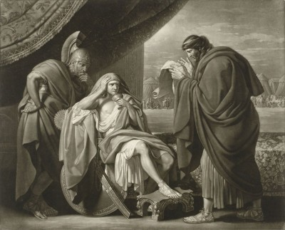 Alexander Hearing Bad Tidings, c.1759, Engraving