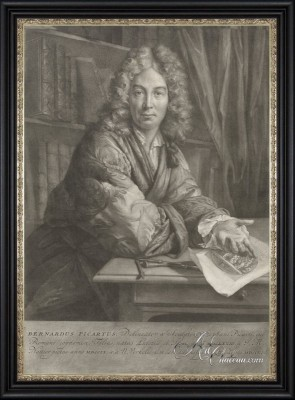 Portrait of Bernard Picart, after Nicolaas Verkolje