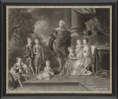 George III of England and His Family, after Richard Earlom