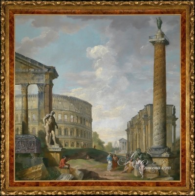 Preston Hollow, Dallas Interior Design, after Giovanni Paolo Panini