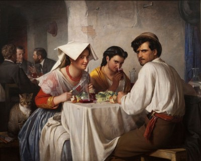 In a Roman Osteria, c.1866, Oil on Canvas