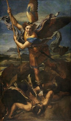 Saint Michael Vanquishing Satan, Le Grand Saint Michael, c.1518, Oil on Canvas