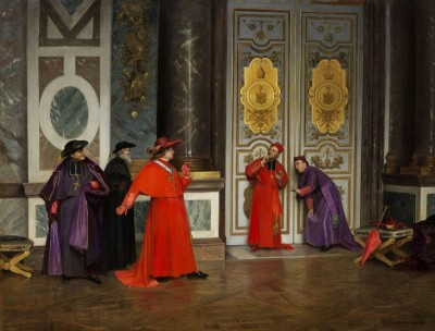 Cardinals in the Antechamber of the Vatican, c.1895, Oil on Canvas