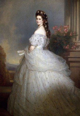 Empress Elisabeth of Austria, c.1865, Oil on Canvas