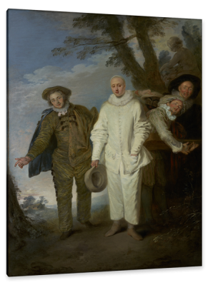 The Italian Comedians, c.1720, Oil on Canvas