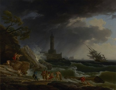 A Storm on a Mediterranean Coast, c.1770, Oil on Canvas