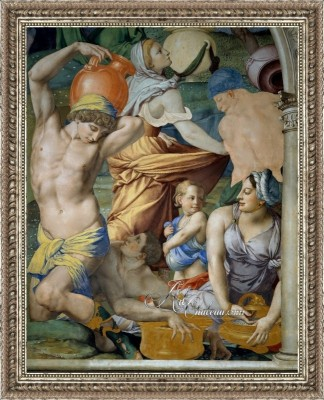 Falling of the Manna, after Painting by Agnolo Bronzino