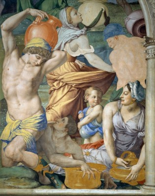The Falling of the Manna, c.1542, Fresco