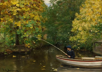 Young Angler on the Odense, c.1885, Oil on Canvas