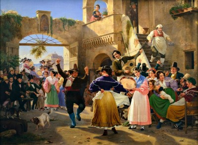 October Festival Outside the Walls of Rome, c.1839, Oil on Canvas