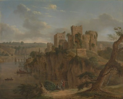 Chepstow Castle, Wales, c.1795, Oil on Panel