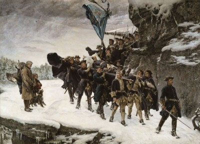 Bringing Home the Body of King Karl XII of Sweden, c.1884, Oil on Canvas