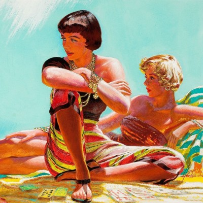 Sunbathers, c.1957, Gouache and Tempera on Board
