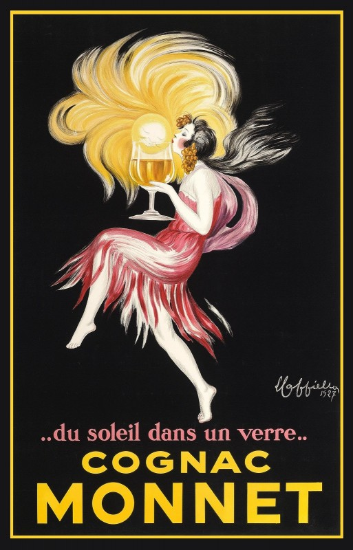 Cognac Monnet Advertising Poster, c.1927, Lithograph on Fine Paper
