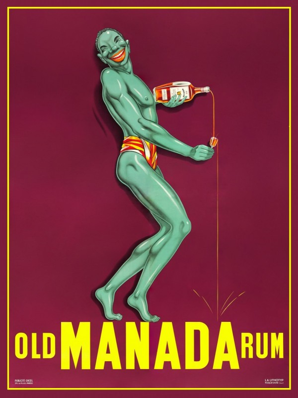 Old Manada Rum Poster, c.1930, Lithograph on Fine Paper