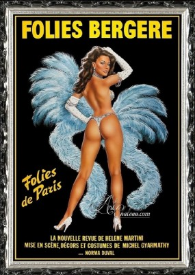 The Folies Berger, French Burlesque Poster