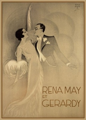 Rena May et Gerardy, c.1930, Lithograph on Fine Paper