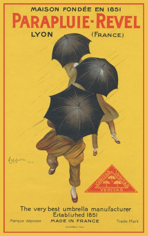 Parapluie Revel Umbrella, c.1922, Lithograph on Fine Paper