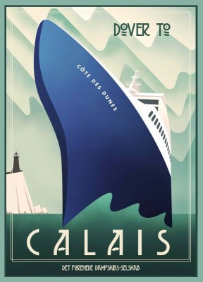 Dover to Calais, c.1937, Lithograph on Fine Paper