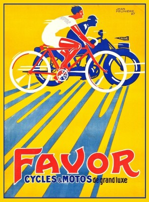 Favor Cycles and Motos French, c.1927, Oil on Canvas