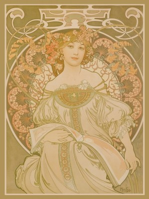 Alphonse Mucha Reverie, c.1897, Lithograph on Fine Paper