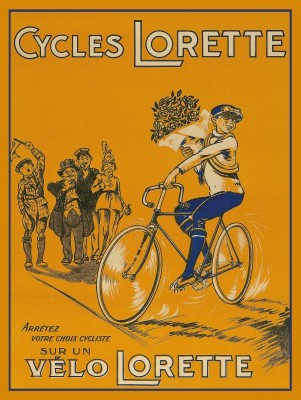 Cycles Lorette Bicycles, c.1930, Lithograph on Fine Linen
