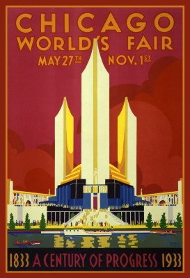 1933 Chicago World's Fair, c.1933, Lithograph on Fine Linen