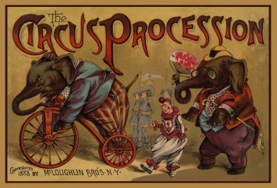 The Circus Procession, Children's Book Cover, c.1888