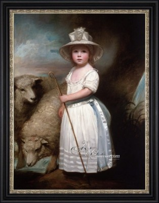 Little Bo-Peep Painting after George Romney