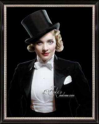 Vintage Hollywood Photograph of Marlene Dietrich
