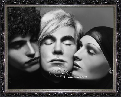 Andy Warhol & Friends, after photo by Richard Avedon