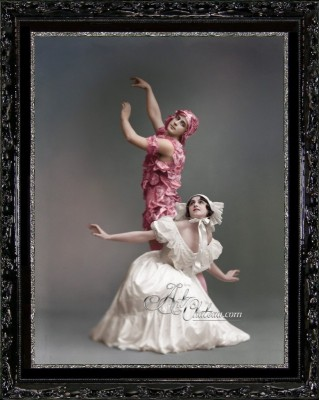 Art Nouveau Ballet Photograph, after Johannes Jaeger